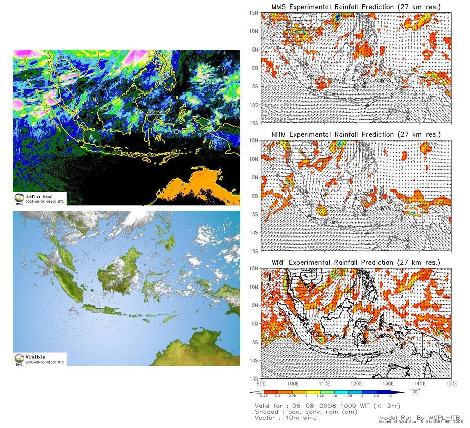 Perbandingan Hasil Observasi Data Satelit Dengan Keluaran Model NHM,MM5 dan WRF